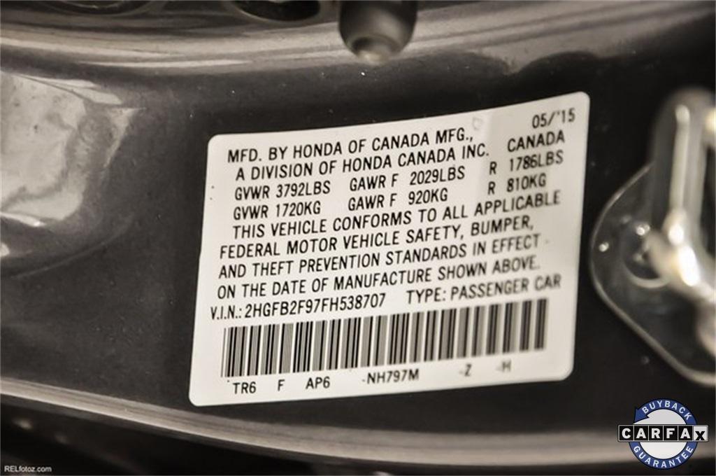 Used 2015 Honda Civic EX-L   Marietta, GA