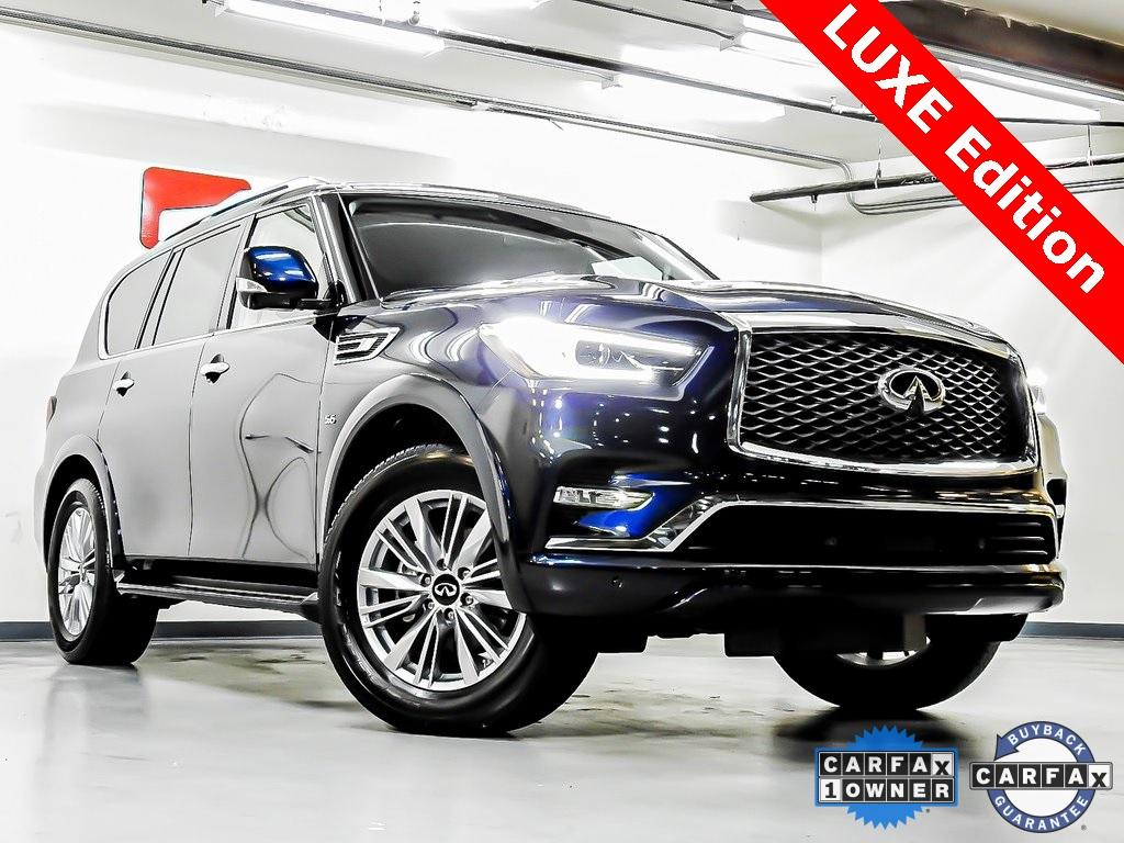 Used 2019 INFINITI QX80 LUXE for sale Sold at Gravity Autos in Roswell GA 30076 1
