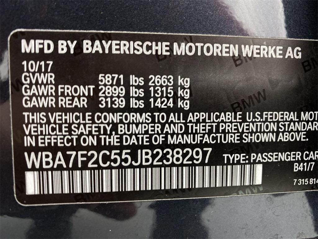 Used 2018 BMW 7 Series 750i xDrive for sale $51,444 at Gravity Autos Marietta in Marietta GA 30060 50