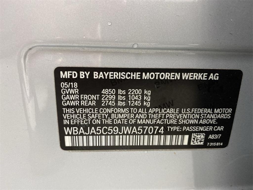 Used 2018 BMW 5 Series 530i for sale $32,222 at Gravity Autos Marietta in Marietta GA 30060 42