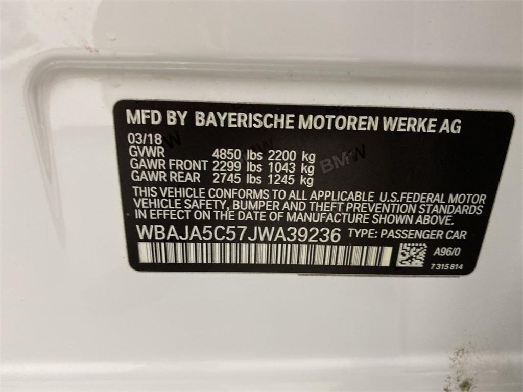 Used 2018 BMW 5 Series 530i for sale Sold at Gravity Autos Marietta in Marietta GA 30060 44