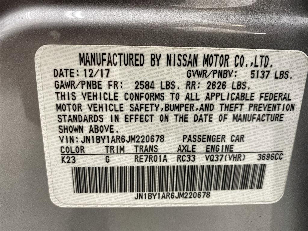 Used 2018 INFINITI Q70 3.7X for sale $29,999 at Gravity Autos Marietta in Marietta GA 30060 44