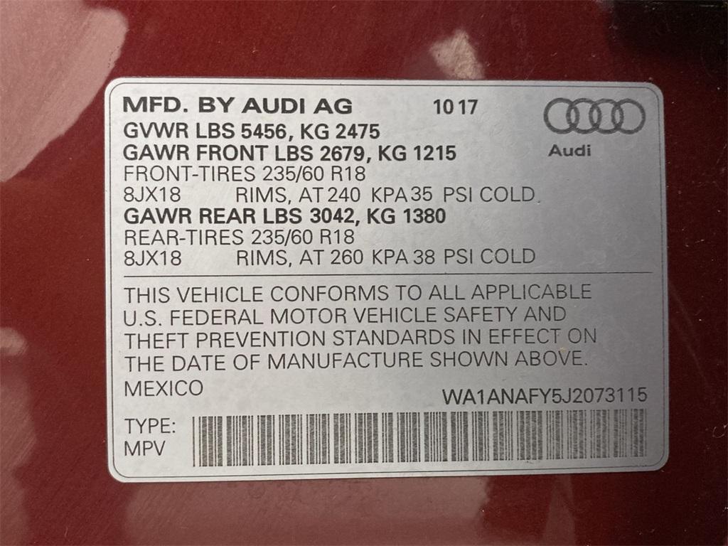 Used 2018 Audi Q5 2.0T for sale $31,888 at Gravity Autos Marietta in Marietta GA 30060 44