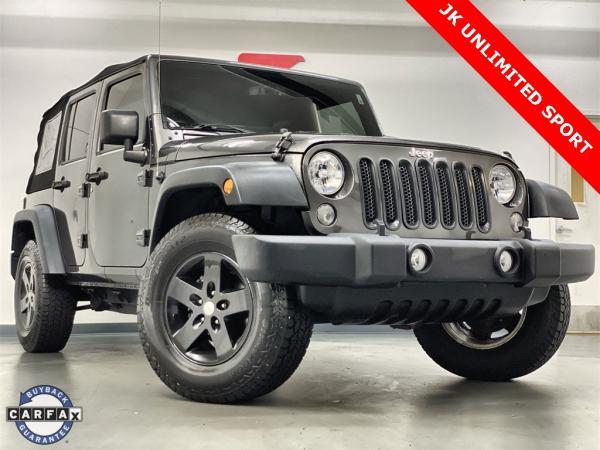 Used 2018 Jeep Wrangler JK Unlimited Sport for sale $34,476 at Gravity Autos Marietta in Marietta GA