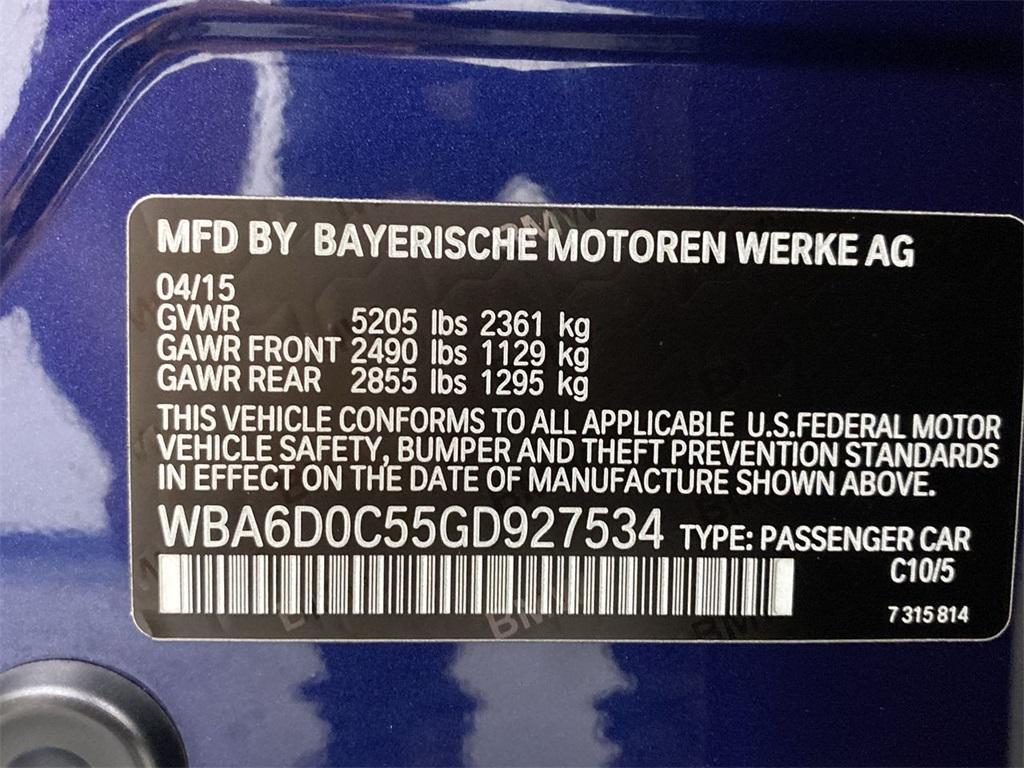 Used 2016 BMW 6 Series 640i Gran Coupe for sale $34,995 at Gravity Autos Marietta in Marietta GA 30060 53