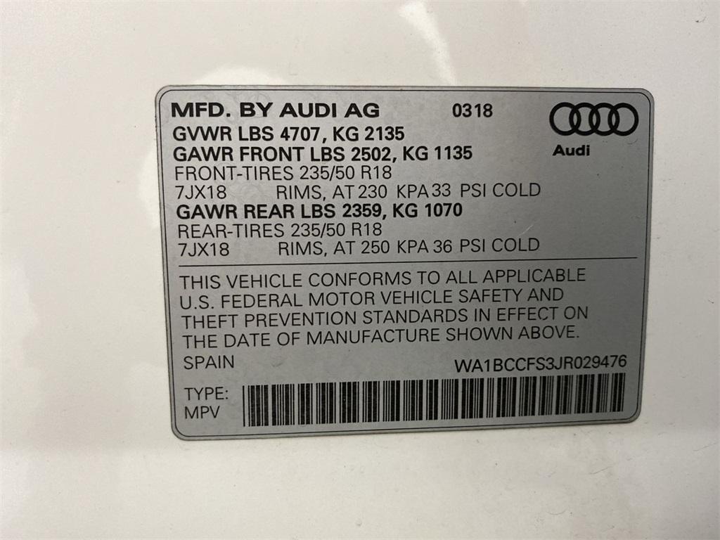 Used 2018 Audi Q3 2.0T Premium for sale $27,888 at Gravity Autos Marietta in Marietta GA 30060 48
