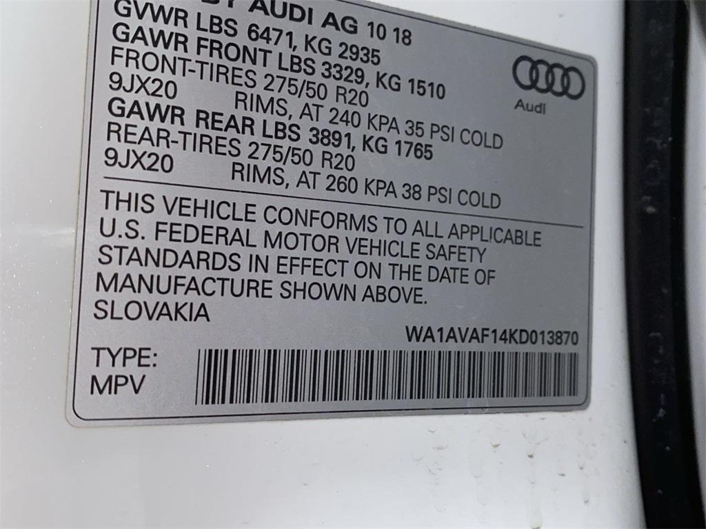 Used 2019 Audi Q8 for sale $67,888 at Gravity Autos Marietta in Marietta GA 30060 54