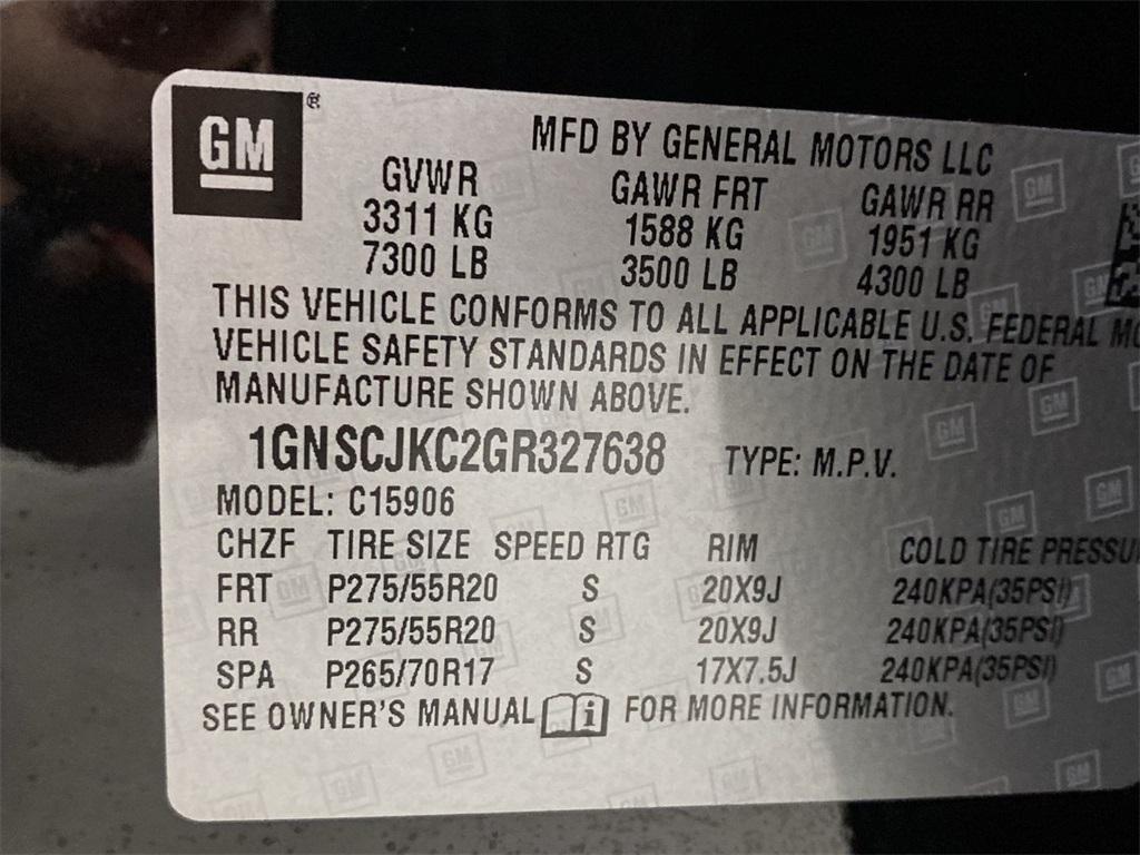 Used 2016 Chevrolet Suburban LTZ for sale $43,998 at Gravity Autos Marietta in Marietta GA 30060 53