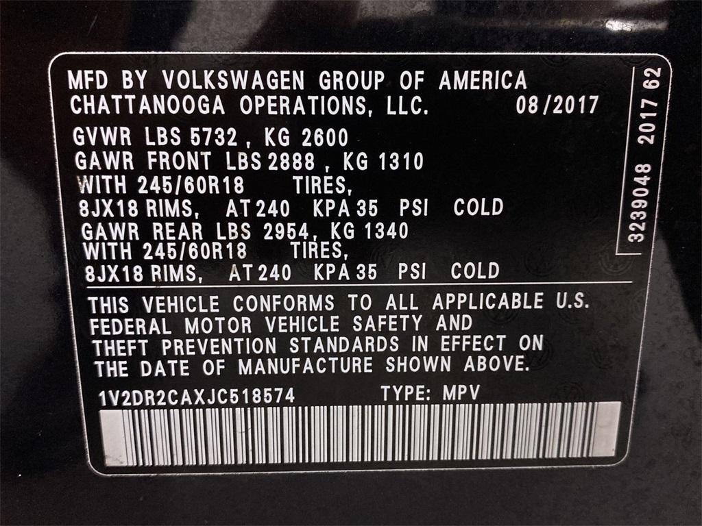 Used 2018 Volkswagen Atlas 3.6L V6 SE w/Technology for sale $31,998 at Gravity Autos Marietta in Marietta GA 30060 47